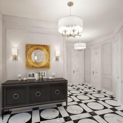 Дизайн прихожей в парижской стиле. Фото интерьера