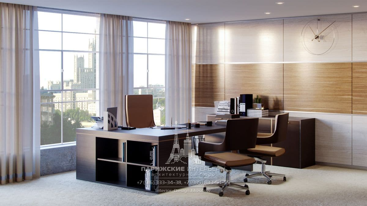 Дизайн-проект офиса в классическом стиле
