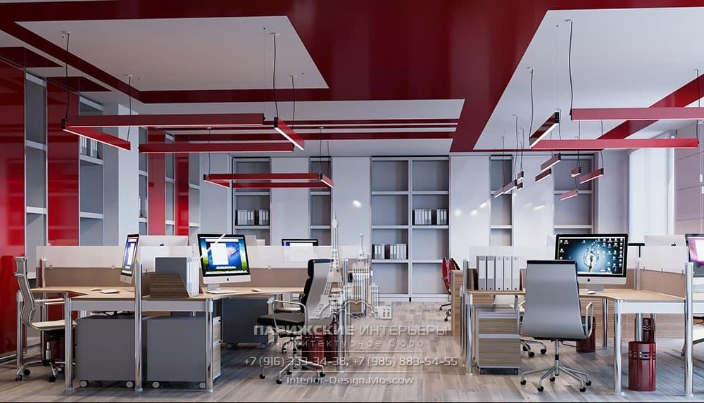 Совмещенные угловые мебельные группы в современном офисе