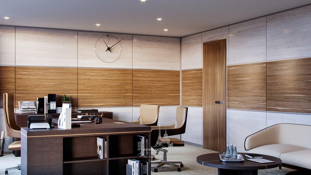 Часы как элемент декоративного решения современного офиса