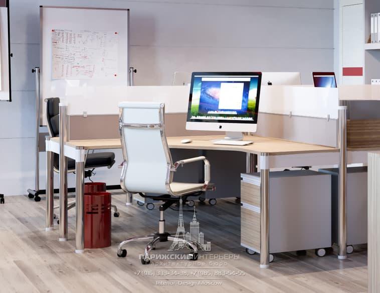 Современный офис с магнитно-маркерной доской