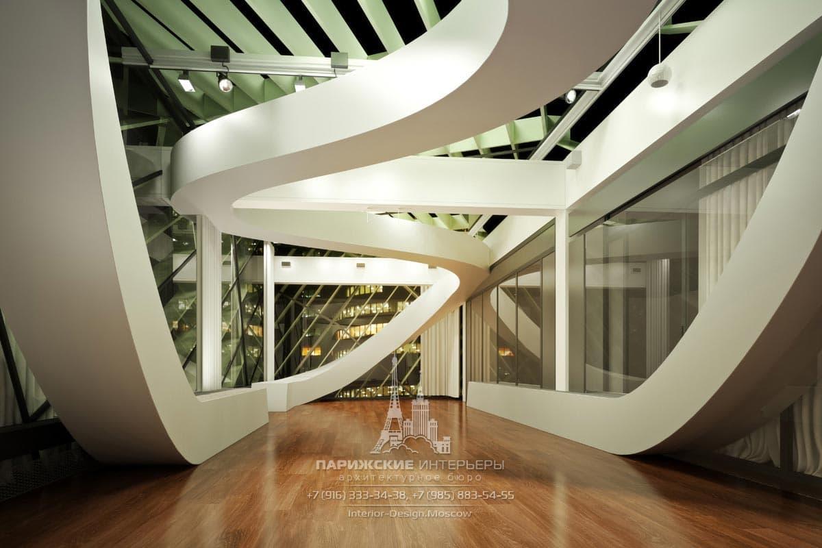 Офисное пространство в стиле футуризм