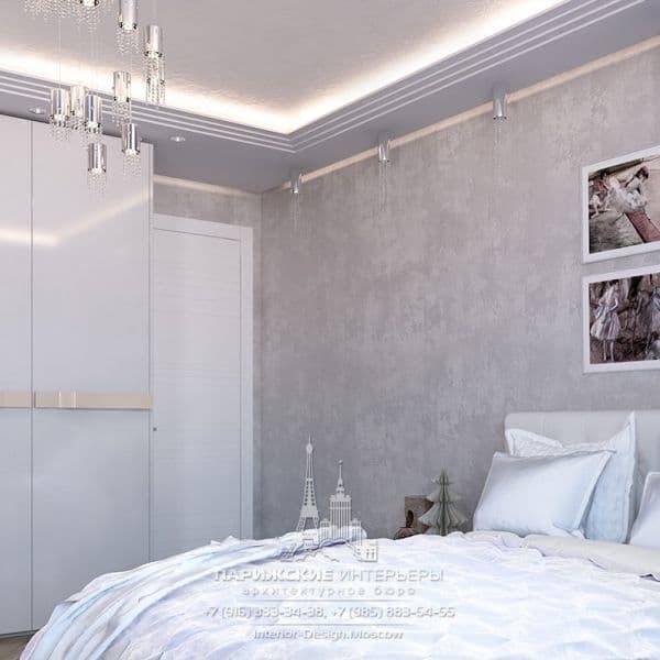 Дизайн маленькой спальни в частном доме