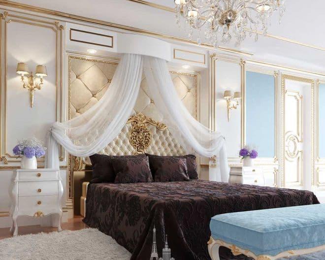 Современная спальня в классическом стиле