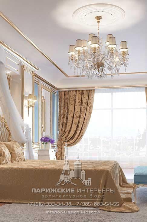 Дизайн интерьера классической спальни фото 2016