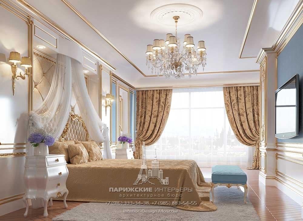 Дизайн интерьера классической спальни