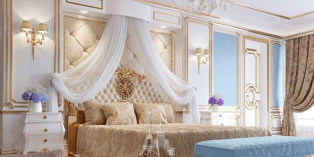 Современные идеи дизайна спальни в классическом стиле фото