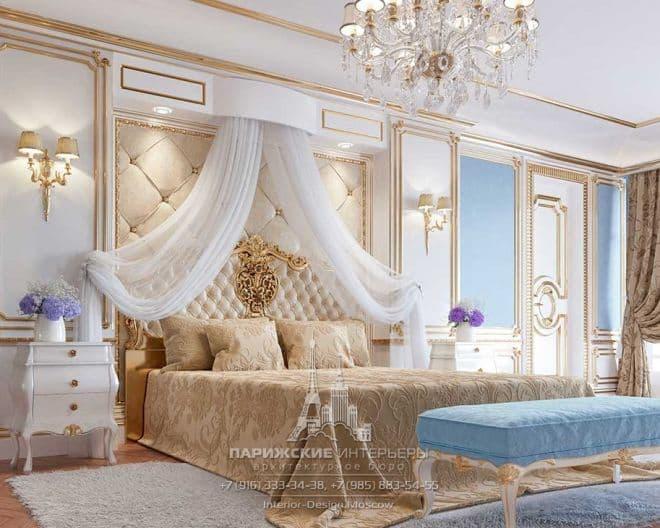 Классическая спальня с кабинетом