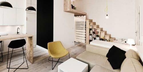 Оформление маленькой квартиры в современном стиле: зонирование пространства