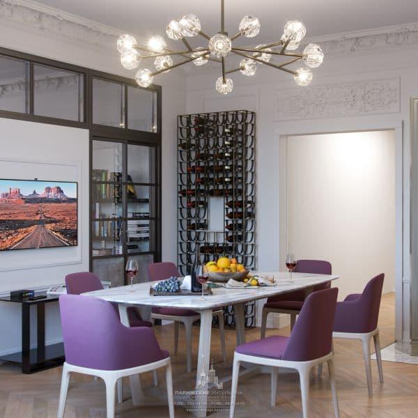 Интерьер кухни в парижском стиле