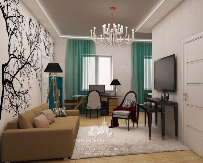Интерьер 2-комнатной сталинки в современном стиле