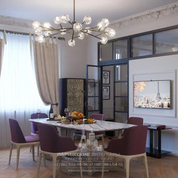 Дизайн кухни в парижском стиле