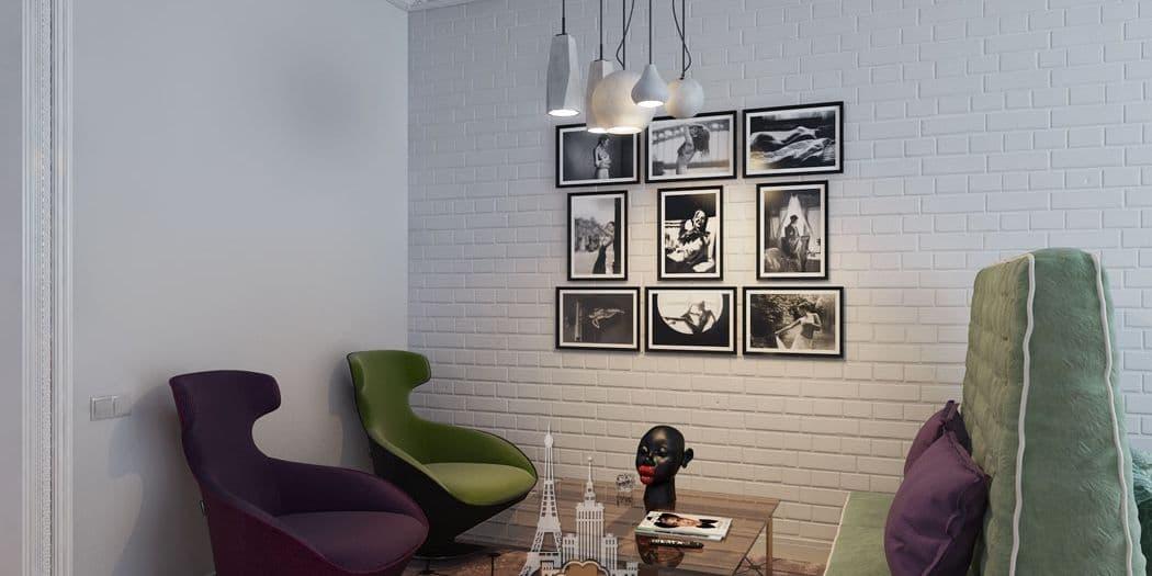 Интерьер комнаты в парижском стиле