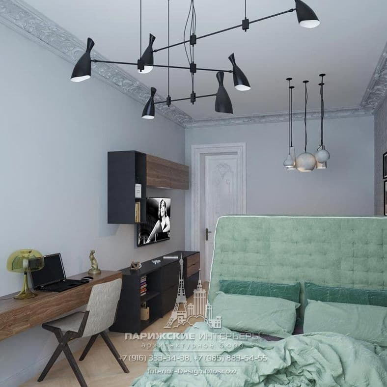 Дизайн спальни в парижском стиле
