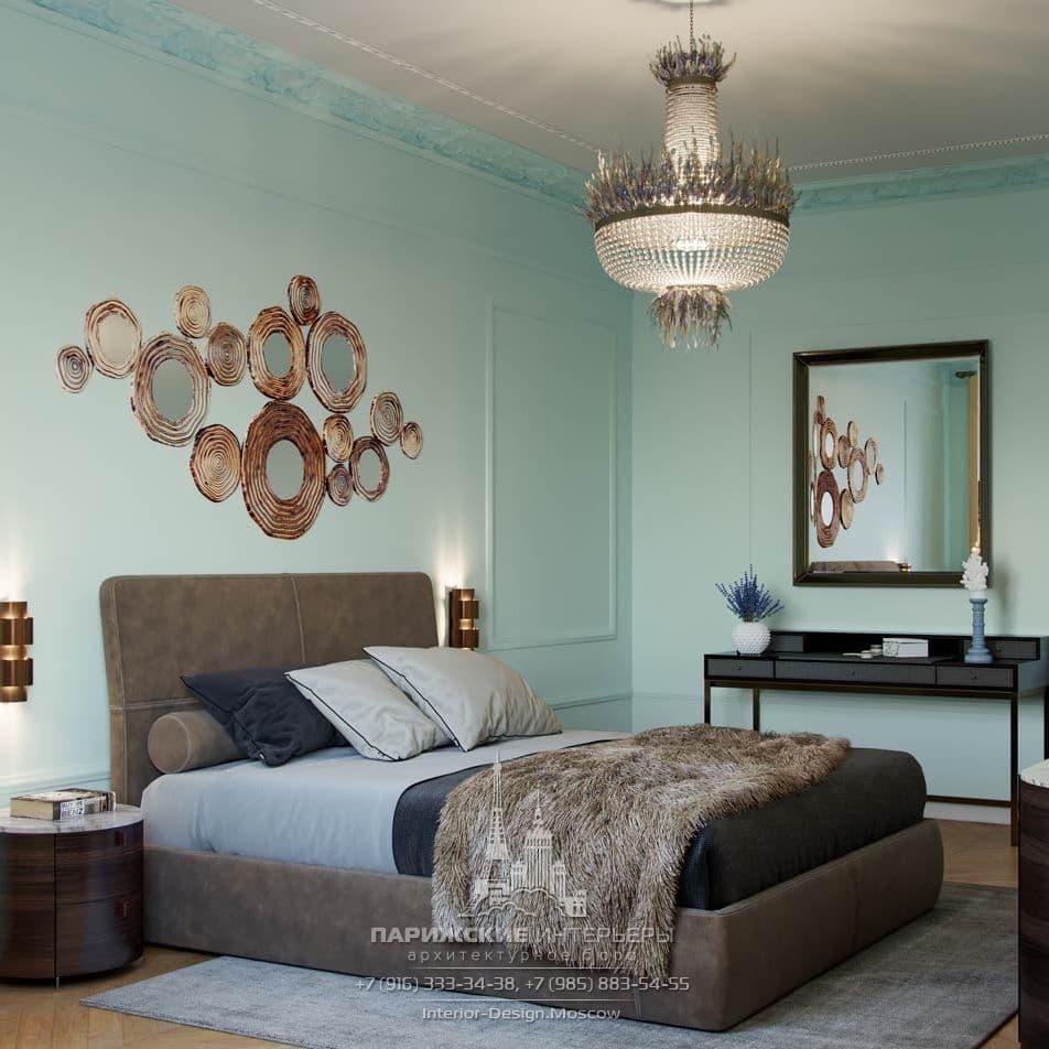 Дизайн интерьера спальни в парижском стиле
