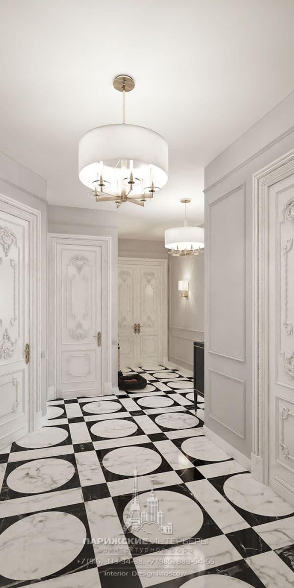 Дизайн прихожей в парижском стиле. Фото интерьера