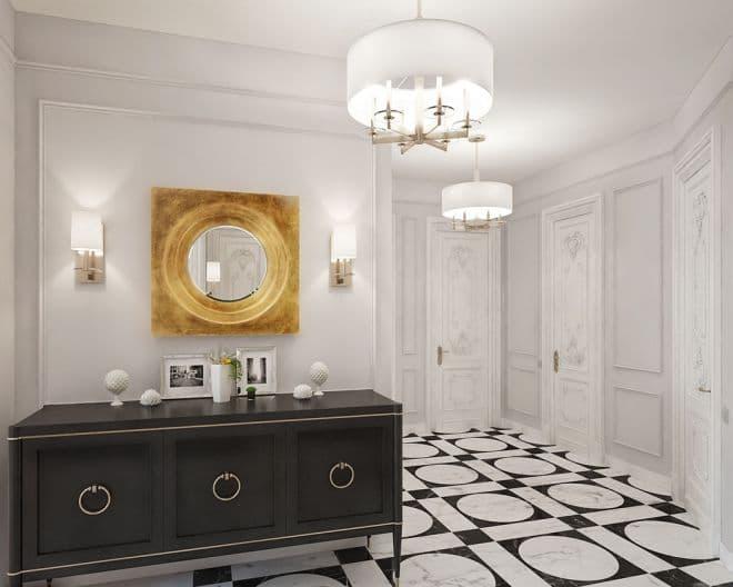 Дизайн прихожей в парижском стиле
