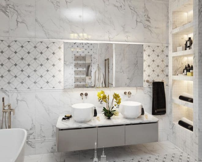 Дизайн ванной комнаты в парижском стиле