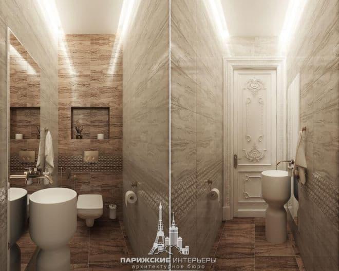 Дизайн санузла в квартире в парижском стиле