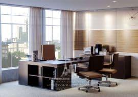 Современный кабинет с панорамными окнами
