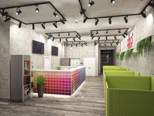 Дизайн-проект офиса в современном стиле для рекламного агентства
