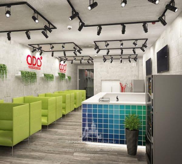 Дизайн офиса в современном стиле с элементами лофта