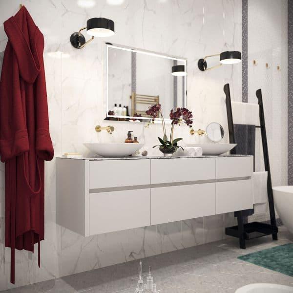 """Ванная комната в парижском стиле в ЖК """"Донской Олимп"""""""