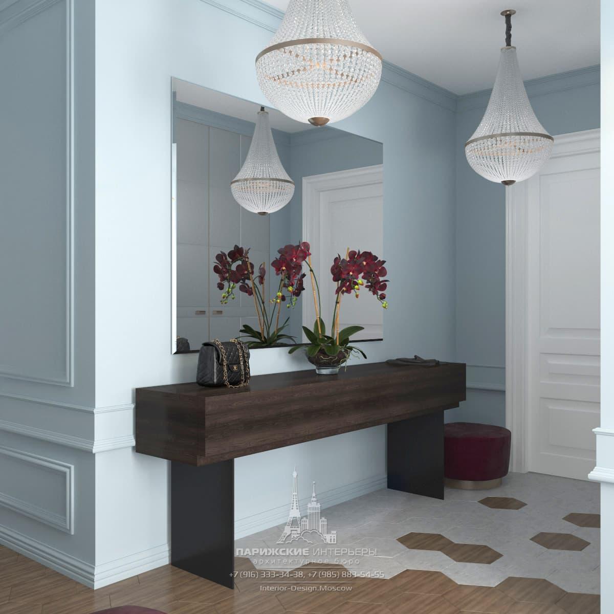 Дизайн проект маленькой квартиры в стиле модерн в г: Дизайн прихожей в парижском стиле в ЖК «Донской Олимп