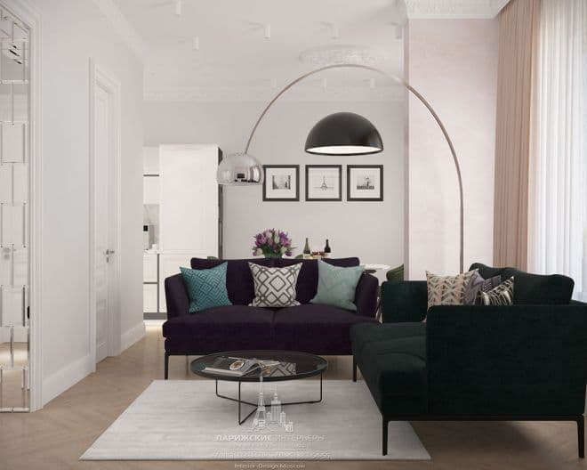 """Лаконичная геометрия. Дизайн квартиры в современном стиле в ЖК """"Грин Парк"""""""