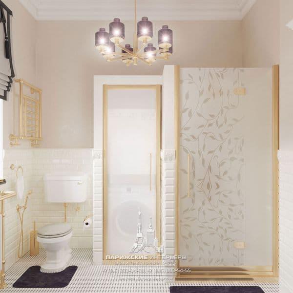Дизайн-проект санузла в квартире в историческом центре Москвы