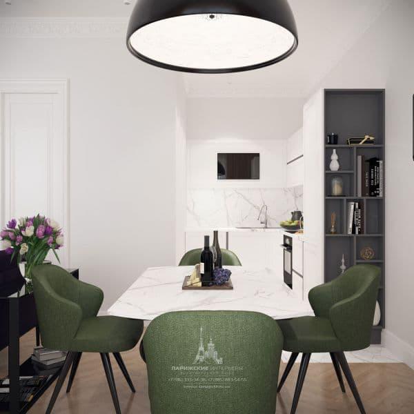 Дизайн столовой зоны в квартире