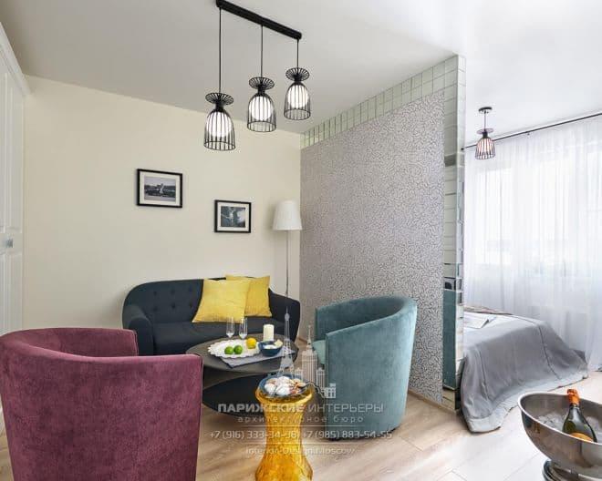 """Ремонт небольшой квартиры в парижском стиле в ЖК """"Рассказово"""""""