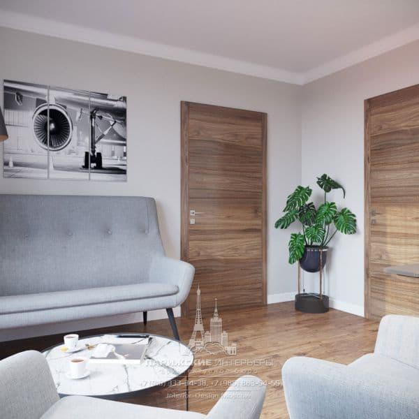 Дизайн интерьера офиса с современной мебелью. Фото 2018