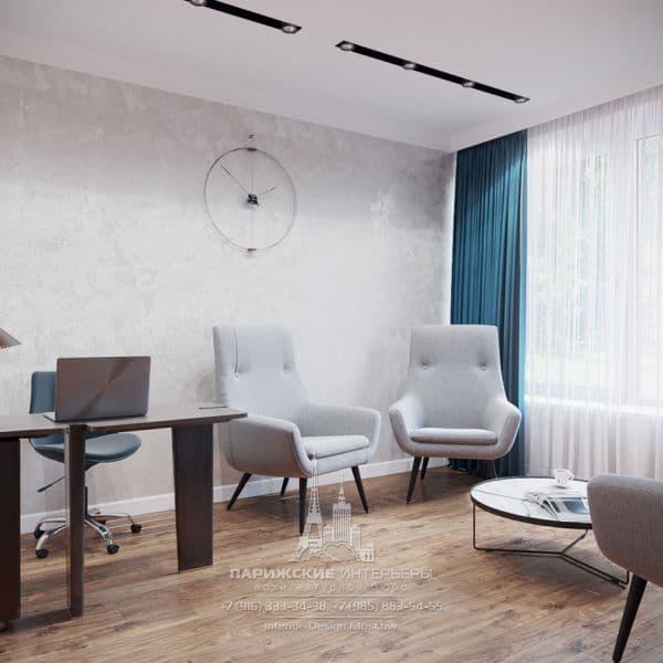 Дизайн кабинета в современном стиле. Фото 2018