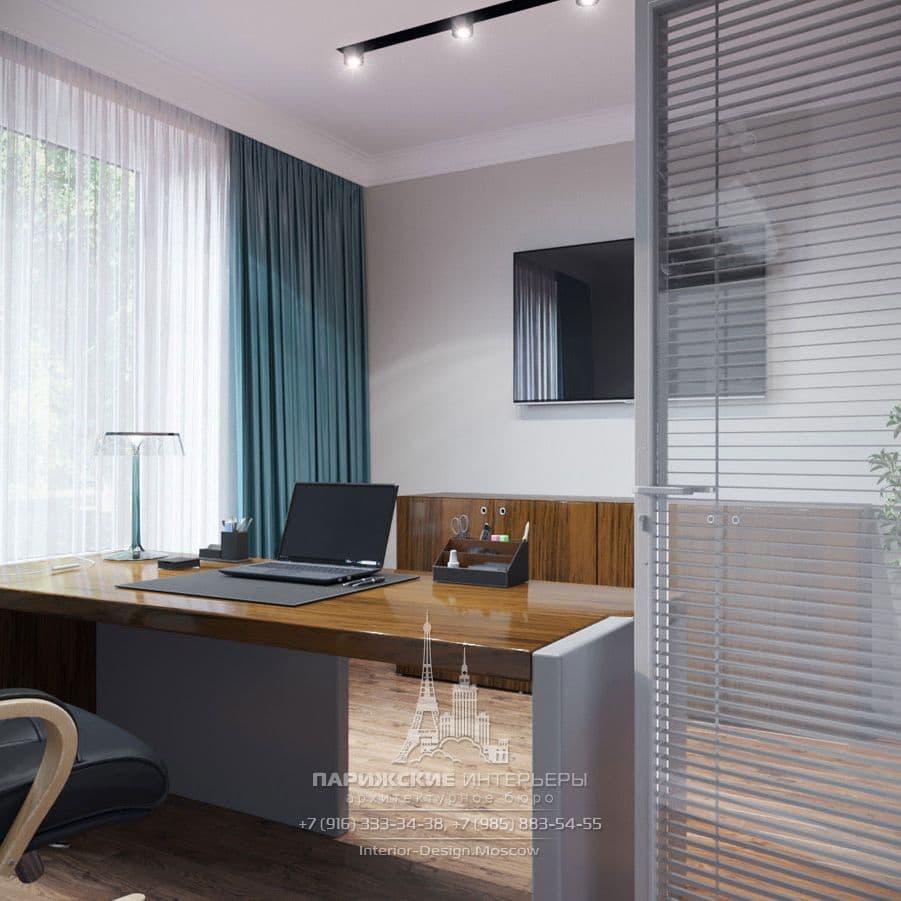 Дизайн офиса в современном стиле. Фото интерьера 2018 года