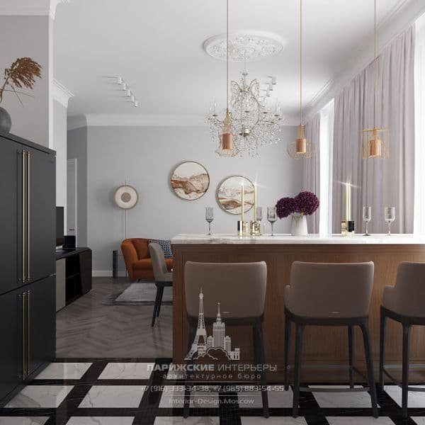 """Дизайн кухни в квартире в ЖК """"Наследие"""""""
