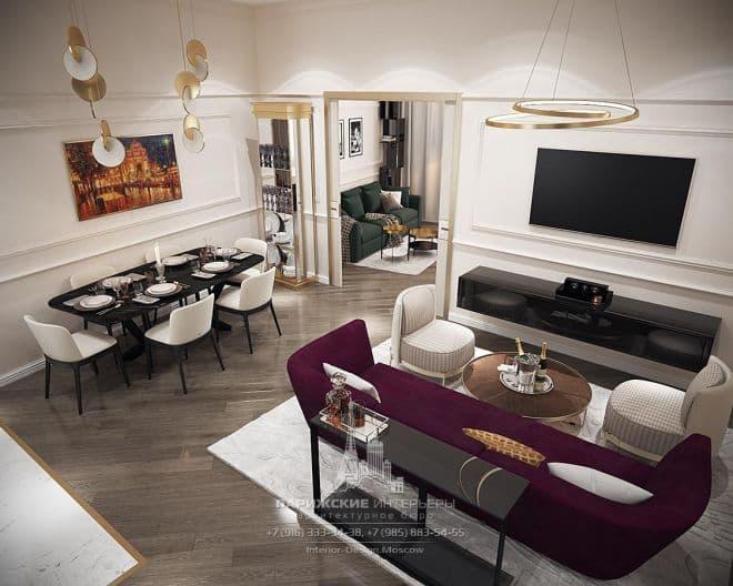Весенний Париж в миниатюре. Интерьер 4-комнатной квартиры на Пречистенке