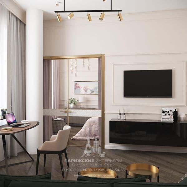 Дизайн гостиной в парижском стиле