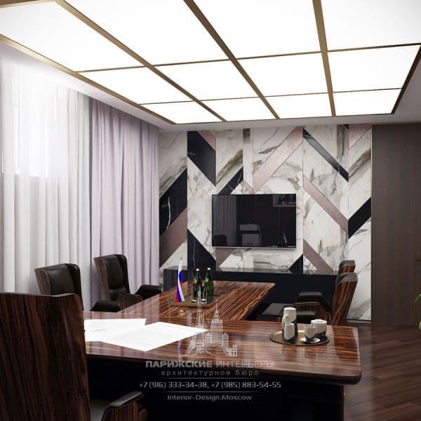 Дизайн интерьера кабинета в офисе