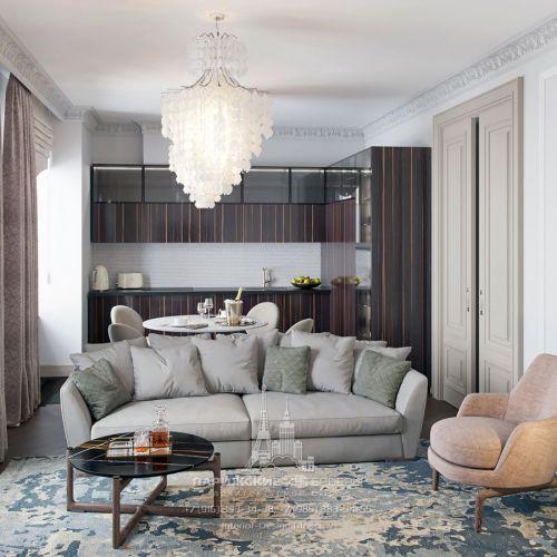 Современная классика в светлых тонах в интерьере квартиры