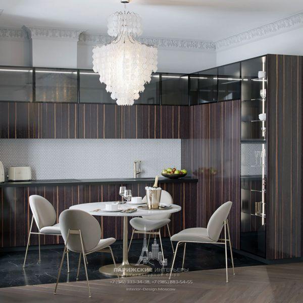 Дизайн кухни-столовой в стиле современная классика