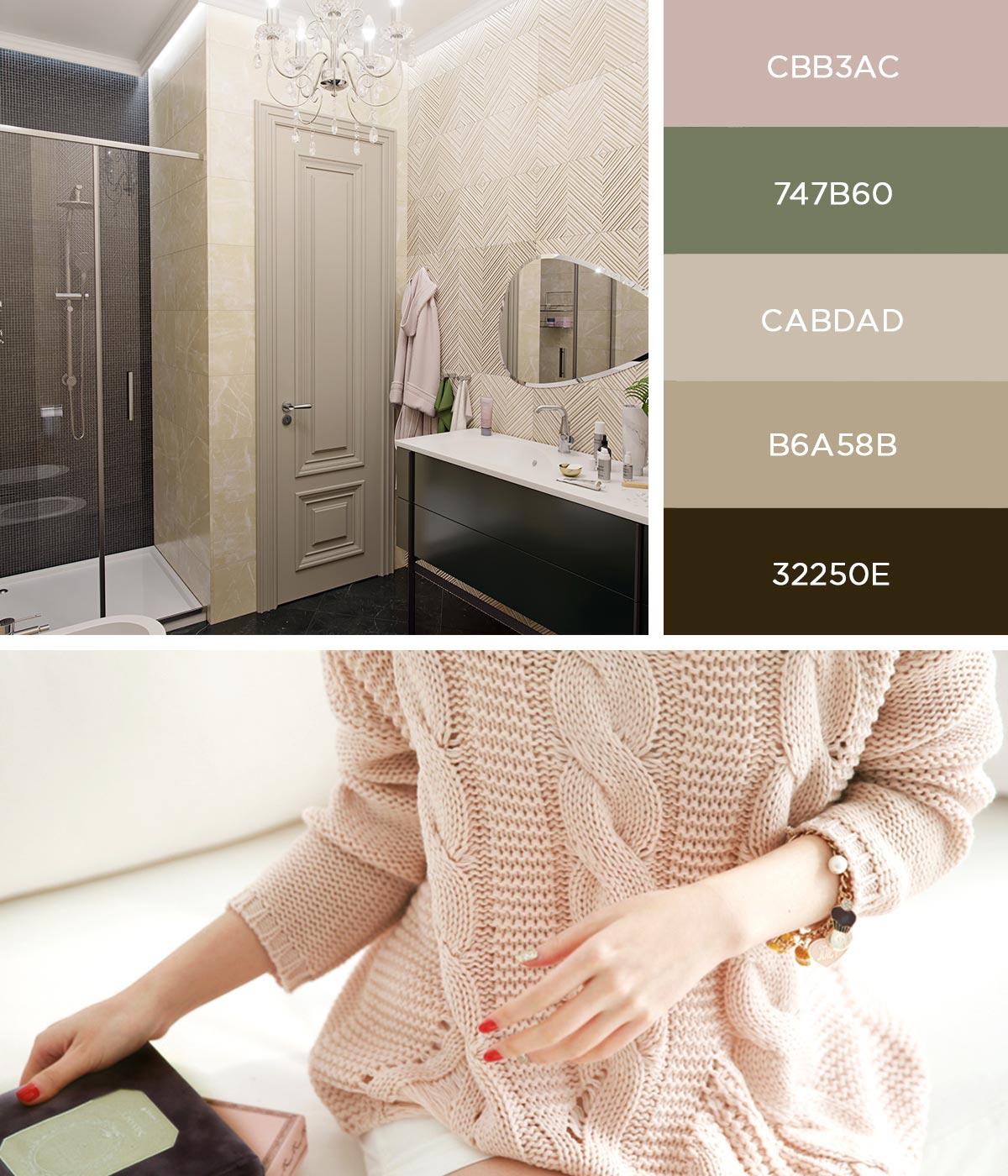 Дизайн интерьра ванной комнаты