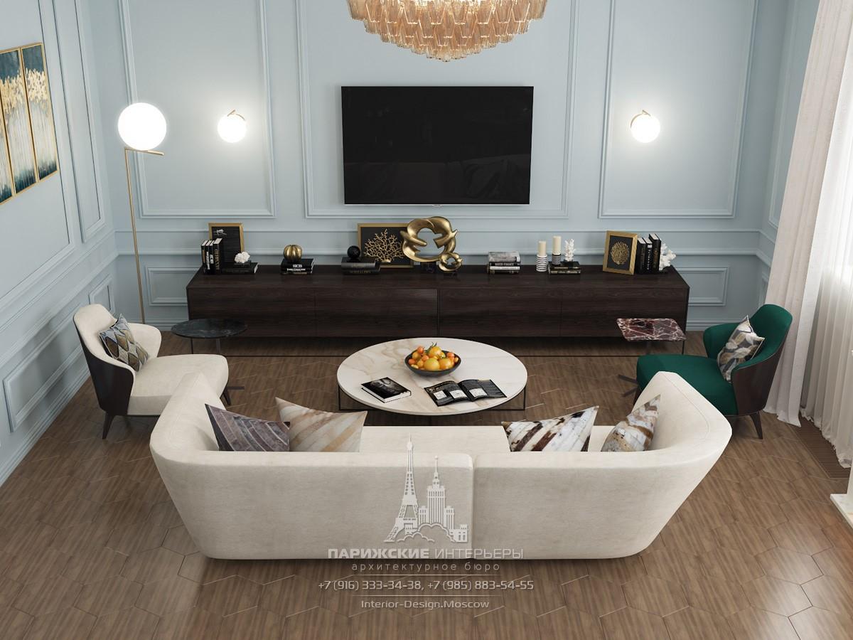 Дизайн квартиры в парижском стиле в ЖК «Донской Олимп»