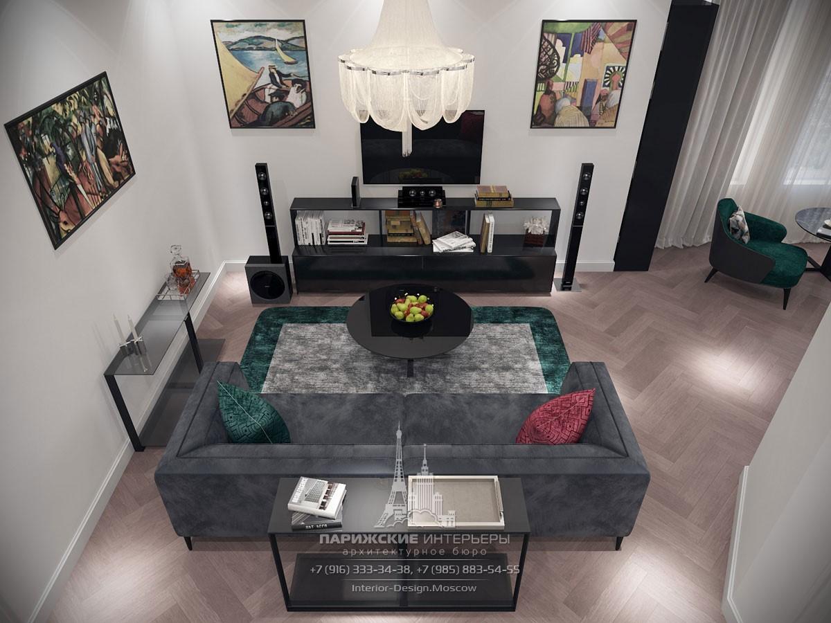 Проект квартиры на Ленинском в парижском стиле