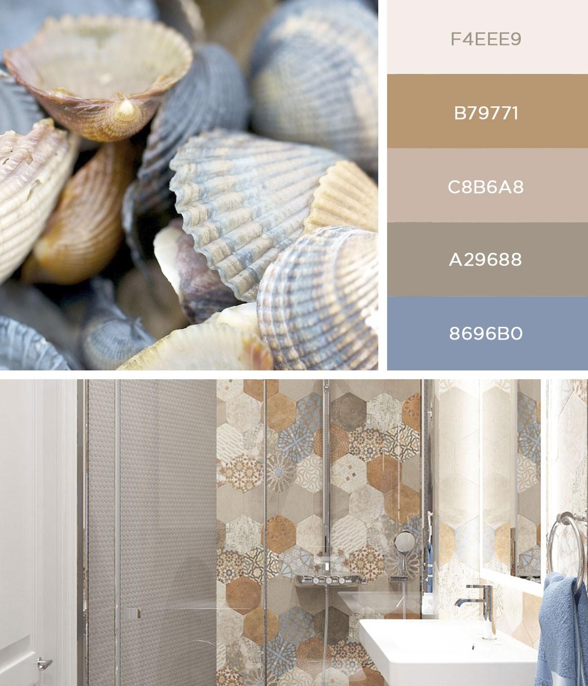 Дизайн ванной в светлых тонах в современном стиле