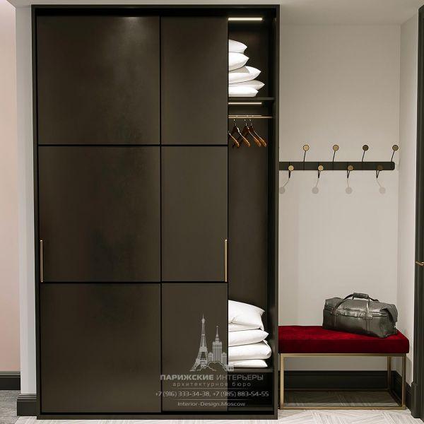 Дизайн прихожей в гостиничном номере