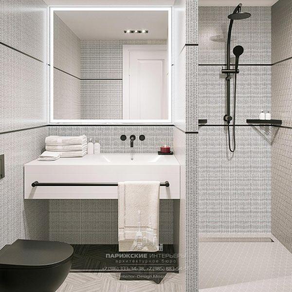 Дизайн санузла в гостиничном номере