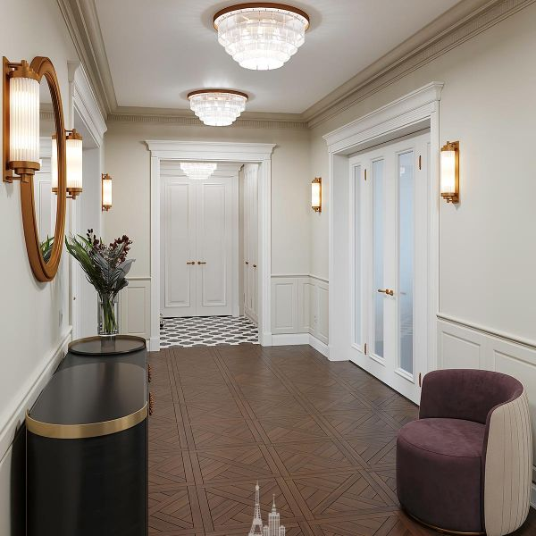 Дизайн прихожей в частном доме
