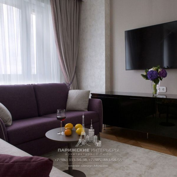 Дизайн интерьера ТВ-зоны гостиной в современном стиле. Фото 2019