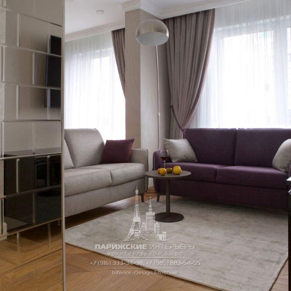 Дизайн интерьера гостиной в современном стиле. Фото 2019